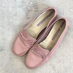 Easy Spirit pink leather loafer / moccasin